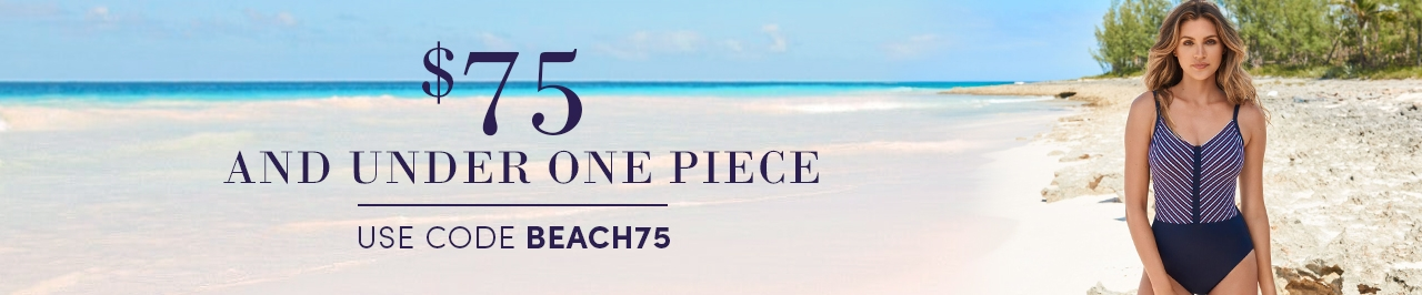 One Piece Swimsuits under $75 with code BEACH75