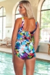 Chlorine Resistant Maxine of Hollywood Fiesta Shirred Girl Leg One Piece Swimsuit