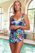 Chlorine Resistant Maxine of Hollywood Fiesta Wide Strap Tie Side Sarong One Piece Swimsuit