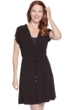 Dotti Beachside Beauty Solid Black Hooded Dress