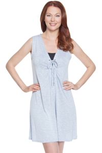Dotti Cabana Calling Blue Tie Front Dress