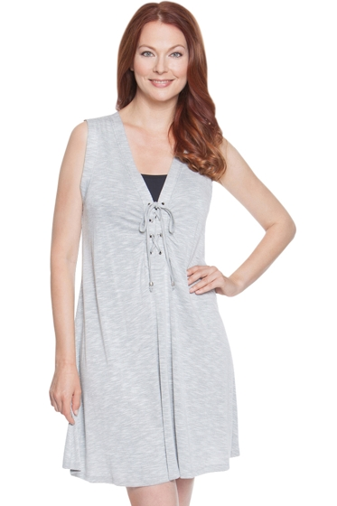 Dotti Cabana Calling Charcoal Tie Front Dress