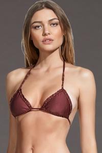 ViX Burgundy Bohemian Triangle Bikini Top