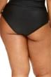Fashion to Figure Helena Black Mesh Inset High Waist Bikini Bottom