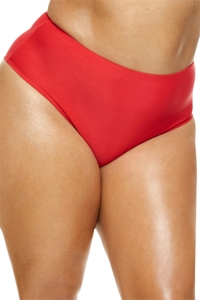 Fashion to Figure Rosario Red High Waist Bikini Bottom