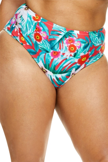 Fashion to Figure Martinique Floral High Waist Bikini Bottom