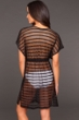 Dotti Black Mesh Striped Tunic Cover Up