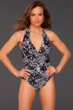 La Blanca Calypso Shirred Halter One Piece Swimsuit