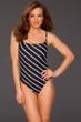 La Blanca Diagonal Lingerie One Piece Swimsuit