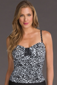 24th & Ocean Tribal Mix Tab Front Tankini Top