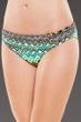 La Blanca Emerald Sahara Chevron Shirred Band Hipster Swim Bottom