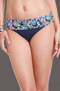 Anne Cole Ditsy Floral Foldover Mid-Rise Brief Swim Bottom