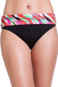 Cole of California Isabella Ikat Foldover Hipster Swim Bottom
