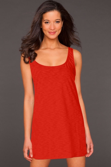 La Blanca Punch Jersey Tank Dress