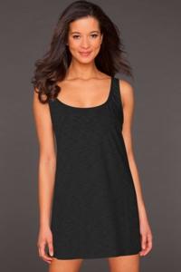 La Blanca Black Jersey Tank Dress
