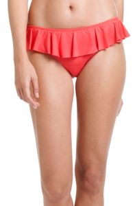 Cole of California Coral Core Solids Ruffle Hipster