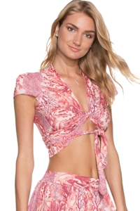 Maaji Carribean Oasis Wrap Crop Top