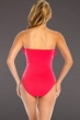 Magicsuit Blush Fringe Solids Molly Underwire Bandeau One Piece Swimsuit