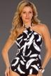 Magicsuit Stroke of Genius Layla High Neck Halter Tankini Top