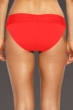 La Blanca Red Core Solids Shirred Waistband Hipster Bottom