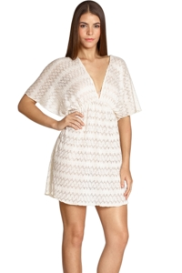 Elif Ivory Midnight Eden Flutter Sleeve Dress