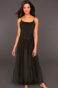 Raviya Black Crochet Waist Halter Dress
