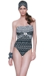 Gottex African Rhythm Bandeau One Piece Swimsuit
