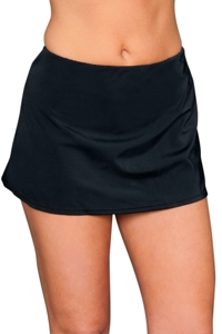 Kallure Black Swim Skirt Bottom