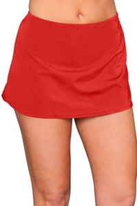 Kallure Red Swim Skirt Bottom