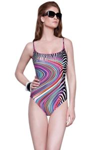 Gottex Rainbow Zebra Lingerie One Piece Swimsuit