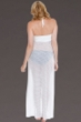 Dotti White Spot On Bandeau Hi-Low Front Slit Dress