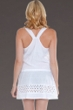 Dotti White Summer Love Drop Waist Tank Dress
