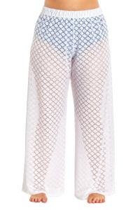 Always For Me Plus Size Lattice Beach Cover Up Pant