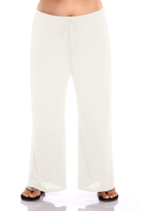 Always For Me White Plus Size Tie Front Lounge Beach Cover Up Pant