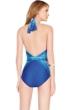 Gottex Blue Jasmine High Neck One Piece Swimsuit