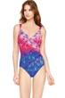 Gottex Cosmic Petals Surplice One Piece Swimsuit
