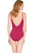 Gottex Wine Jezebel Surplice One Piece Swimsuit
