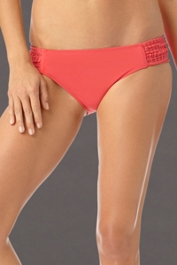 Anne Cole Watermelon Lace Crochet Tab Side Brief Swim Bottom
