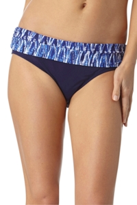 Anne Cole Indigo Tide Foldover Mid-Rise Brief Swim Bottom