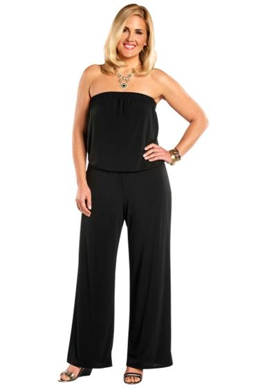 Always For Me Black Plus Size Quintessential Jumpsuit