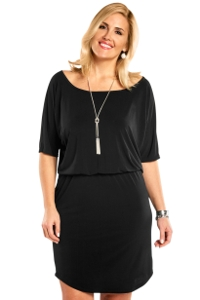 Always For Me Black Plus Size Quintessential Dress