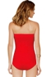 Gottex Diamond in the Rough Red Bandeau One Piece Swimsuit
