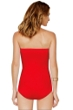 Gottex Diamond in the Rough Red Bandeau Sarong One Piece Swimsuit