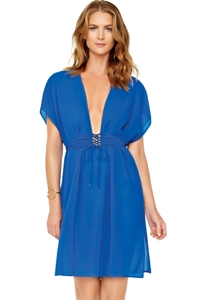 Gottex Gold Standard Blue Beach Dress