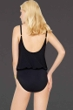 Gottex Lattice Black Underwire Blouson One Piece Swimsuit