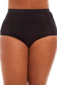 Jessica Simpson Black Plus Size Crochet High Waist Tankini Bottom