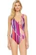 Gottex Collection Art Deco Surplice One Piece Swimsuit