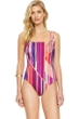 Gottex Art Deco Square Neck One Piece Swimsuit