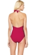 Gottex Au Naturel Cherry Halter Surplice One Piece Swimsuit