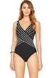 Gottex Embrace Black Surplice One Piece Swimsuit